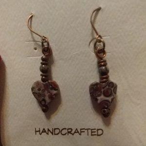 Leopard Jasper natural stone earrings